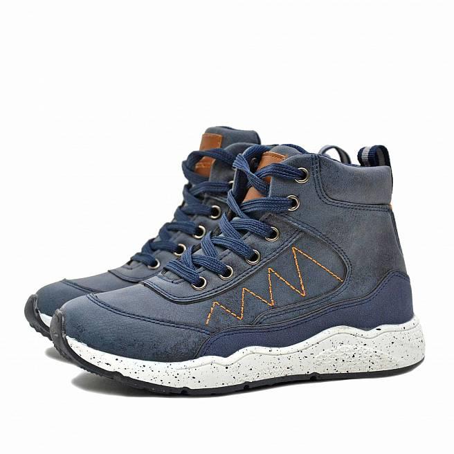 Детские демисезонные ботинки Nordman Go синие