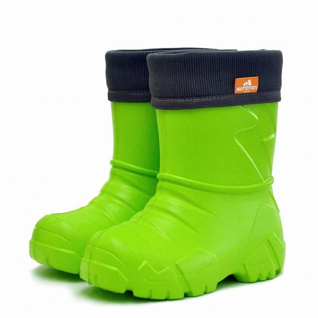 Детские демисезонные резиновые сапожки Nordman Kids с флисовым утеплителем
